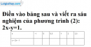 Trả lời câu hỏi 3 Bài 1 trang 5 SGK toán 9 tập 2