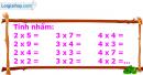 Bài 1, 2, 3, 4, 5 trang 106 sgk Toán 2
