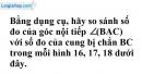 Trả lời câu hỏi 2 Bài 3 trang 73 SGK toán 9 tập 2