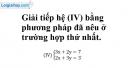 Trả lời câu hỏi 4 Bài 4 trang 18 SGK toán 9 tập 2