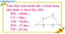 Bài 2 trang 106 (Luyện tập về tính diện tích - tiếp theo) SGK Toán 5
