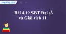 Bài 4.19 trang 165 SBT đại số và giải tích 11