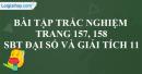 Bài tập trắc nghiệm trang 157, 158 SBT đại số và giải tích 11