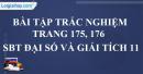 Bài tập trắc nghiệm trang 175, 176 SBT đại số và giải tích 11