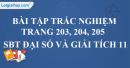 Bài tập trắc nghiệm trang 203, 204, 205 SBT đại số và giải tích 11