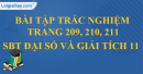 Bài tập trắc nghiệm trang 209, 210, 211 SBT đại số và giải tích 11