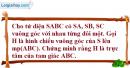 Bài 3 trang 199 SBT hình học 11