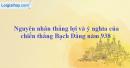 Trình bày nguyên nhân thắng lợi và ý nghĩa của chiến thắng Bạch Đằng năm 938.