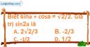 Bài 6.35 trang 190 SBT đại số 10