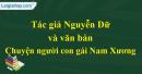 Giới thiệu về tác giả Nguyễn Dữ và văn bản