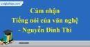 Cảm nhận về bài Tiếng nói của văn nghệ của Nguyễn Đình Thi.