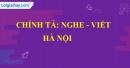 Chính tả (Nghe - viết): Hà Nội