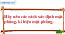 Câu hỏi 1 trang 77 SGK Hình học 11