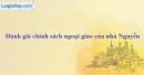 Hãy đánh giá chính sách ngoại giao của nhà Nguyễn