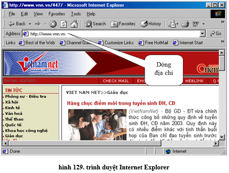 Tin học 10 Bài tập và thực hành 10: Sử dụng trình duyệt internet explorer | Giải bài tập Tin học 10 hay nhất tại VietJack