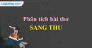 Phân tích bài thơ Sang thu của Hữu Thỉnh.