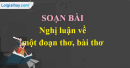 Nghị luận về một đoạn thơ, bài thơ trang 76 SGK Văn 9