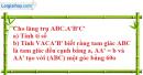 Bài 1 trang 168 SBT hình học 12