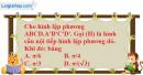 Bài 6 trang 171 SBT hình học 12