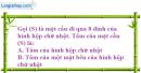 Bài 9 trang 171 SBT hình học 12