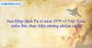 Sau Hiệp định Pa-ri năm 1975 về Việt Nam, miền