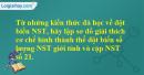 Từ những kiến thức đã học về đột biến NST, hãy lập sơ đồ giải thích cơ chế hình thành thể đột biến số lượng NST giới tính và cặp NST số 21.