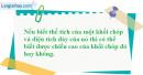 Câu hỏi 3 trang 30 SGK Hình Học 12 nâng cao