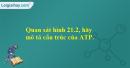 Quan sát hình 21.2, hãy mô tả cấu trúc của ATP.
