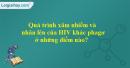 Quá trình xâm nhiễm và nhân lên của HIV khác phagơ ở những điểm nào?