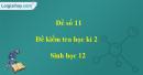 Đề số 11 – Đề kiểm tra học kì 2 – Sinh 12