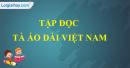 Tập đọc: Tà áo dài Việt Nam