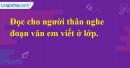 B. Hoạt động ứng dụng - Bài 35A: Ôn tập 1 - VNEN Tiếng Việt 4