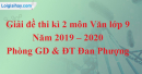Đề thi kì 2 môn Văn lớp 9 năm 2019 - 2020 huyện Đan Phượng