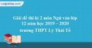 Đề thi kì 2 môn Ngữ văn lớp 12 năm 2019 - 2020 trường THPT Lý Thái Tổ
