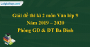 Đề thi kì 2 môn Văn lớp 9 năm 2019 - 2020 quận Ba Đình
