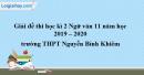 Đề thi kì 2 môn Ngữ văn lớp 11 năm 2019 - 2020 trường THPT Nguyễn Bỉnh Khiêm