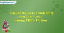 Đề thi học kì 2 Sinh lớp 8 năm 2019 - 2020 trường THCS Tái Sơn