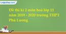 Đề thi kì 2 môn hoá lớp 11 năm 2019 - 2020 trường THPT Phú Lương