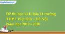 Đề thi học kì II hóa 11 trường THPT Việt Đức - Hà Nội
