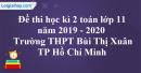 Đề thi học kì 2 toán lớp 11 năm 2019 - 2020 trường THPT Bùi Thị Xuân - TP Hồ Chí Minh