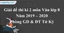 Đề thi kì 2 môn Văn lớp 8 năm 2019 - 2020 Phòng GD & ĐT huyện Tứ Kỳ