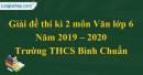 Đề thi kì 2 môn Văn lớp 6 năm 2019 - 2020 Trường THCS Bình Chuẩn