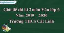 Đề thi kì 2 môn Văn lớp 6 năm 2019 - 2020 Trường THCS Cát Linh