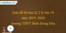 Đề thi học kì 2 lý lớp 10 năm 2019 - 2020 trường THPT Bình Hưng Hòa