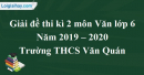 Đề thi kì 2 môn Văn lớp 6 năm 2019 - 2020 Trường THCS Văn Quán