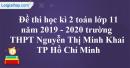 Đề thi học kì 2 toán lớp 11 năm 2019 - 2020 trường THPT Nguyễn Thị Minh Khai - TP Hồ Chí Minh