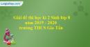 Đề thi học kì 2 Sinh lớp 8 năm 2019 - 2020 trường THCS Gia Tấn