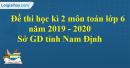 Đề thi học kì 2 môn toán lớp 6 năm 2019 - 2020 Sở GD tỉnh Nam Định