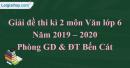Đề thi kì 2 môn Văn lớp 6 năm 2019 - 2020 Phòng GD & ĐT Bến Cát