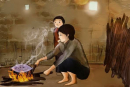 Rồi sớm rồi chiều lại bếp lửa bà nhen, ... Ôi kì lạ và thiêng liêng - bếp lửa